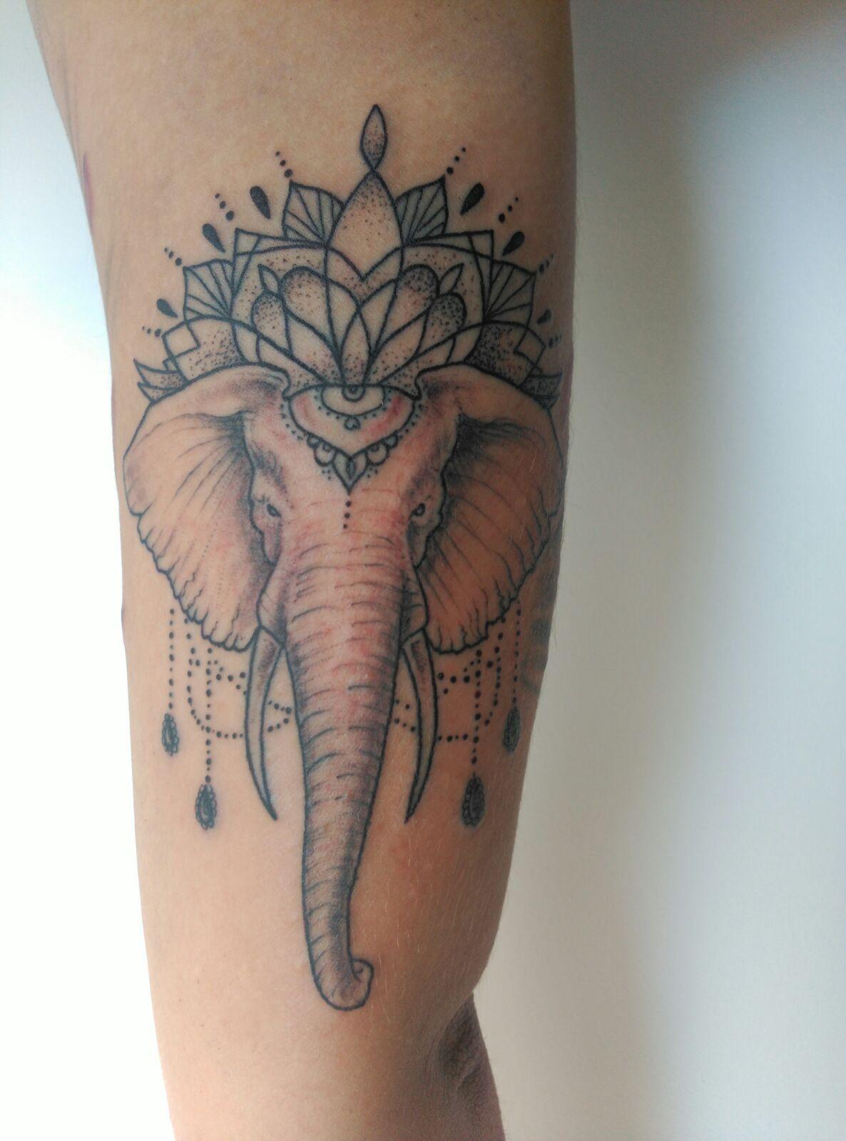 Kalinda Cano Tatuajes tatuaje elefante